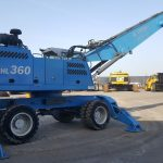 For SALE! : Material Handler Terex-Fuchs MHL360D, 2010, 10600hr, 12.00x24 solid tires, straight boom, banana stick, hydr.elevated cab with a/c, 4p stabilizers, rear cam, auto grease, add.hydraulics, grab, CE, EPA. Full dealer maintained (Van der Spek), Mint condition with original paint.  more info here: Terex-Fuchs MHL360D Terex-Fuchs MHL360D Material Handler